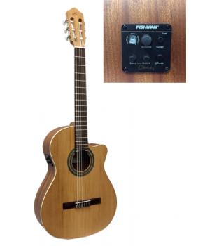 Almansa 400 Гитара классическая с вырезом, тюнером и эквалайзером